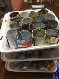 Paper pots ready for planting!