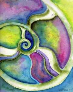 The spiral of spirit (painting by Dana O'Driscoll)