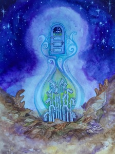 Indian Ghost Pipe - A painting from my ongoing Healing Plant Spirit Oracle project