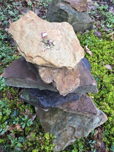Offering on a stone cairn