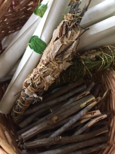 Ogham staves, attunement materials, and scrolls for our ritual