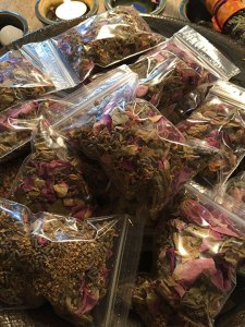 Bagging my herbs for gifts