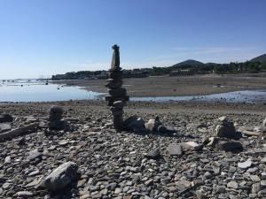 Stone stack along the sea shore