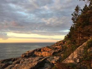 Rocky Maine Shore at Sunrise