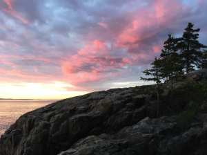 A beautiful scene from the shore in Maine at the sunrise!