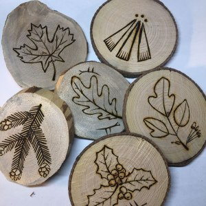 Simple woodburned rounds