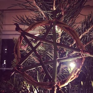 Pentacle ornament on the Yule Tree
