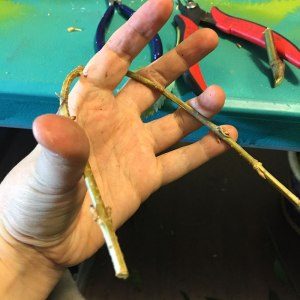 Bendable material should be able to do this without snapping