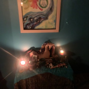 Setting the stage with a water-based altar