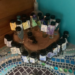 My sacred water shrine, which currently may be in need of expansion!