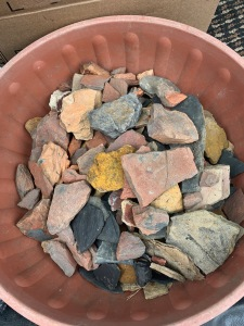 So many potential pigment stones from one trip!