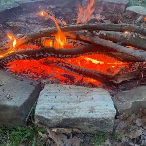 Fire ready to accept healing bundles