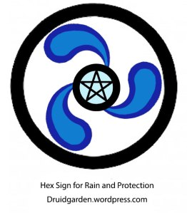 A Hex Sign for Rain and Protection