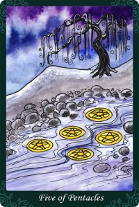 Five of Pentacles - Tarot of Trees