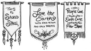 Graphic from book: creating a sacred space in your home through signs and reminders